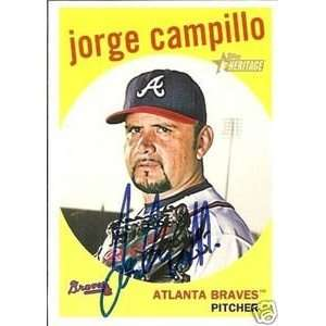 Jorge Campillo Signed Braves 2008 Topps Heritage Card