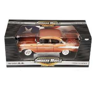 ERTL Chase Car   Chevy Bel Air Hard Top (1957, 118, Gold) diecast car