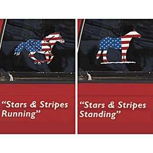 Stars and Stripes Running Horse Decal