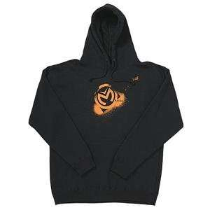 Moose Racing Sprayed Hoody   Medium/Black Automotive