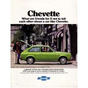 1977 CHEVROLET CHEVETTE Sales Brochure Literature Book