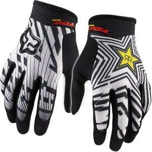 Fox Racing Airline Rockstar Gloves White Automotive