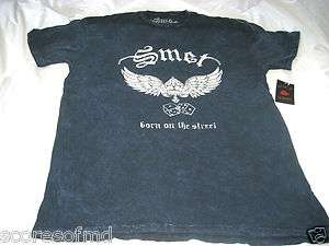 SMET by Christian Audigier Ed Hardy WINGS & DICE SS ACID WASH T SHIRT