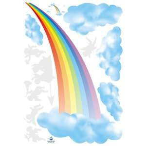 Easy Instant Home Decor Wall Sticker Decal   Rainbow Clouds Home