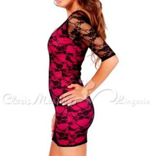 Sexy Women Fashion Party Clubwear Cocktail Lace Lycra Mini Dress BD238
