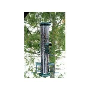 Audubon Caged Port Tube Bird Feeder Patio, Lawn & Garden