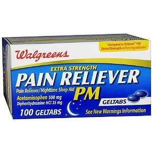 PM Extra Strength Pain Reliever Geltabs, 100 ea
