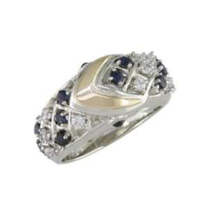 Carriean   size 10.25 14K Gold Sapphire & Diamond Ring Jewelry