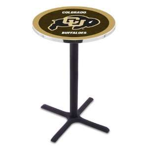 Colorado Counter Height Pub Table   Cross Legs   NCAA