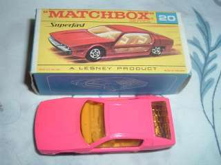 LESNEY MATCHBOX SUPERFAST # 20 LAMBORGHINI MARZAL MIB