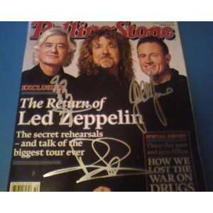 Autographed Rolling Stone Magazine Mag Hand Signed On Cover By LED