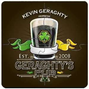 Favors Irish Pub Personalized Coaster Puzzle Set