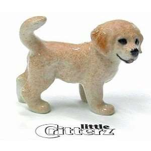 GOLDEN RETRIEVER DOG Puppy Dog Chase Stands New Figurine