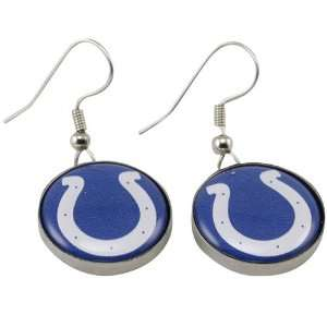 Indianapolis Colts Team Logo Charm Drop Earrings