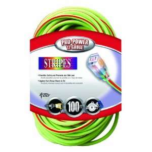 Coleman Cable 02549 54 100 Foot 12/3 Neon Outdoor Extension Cord