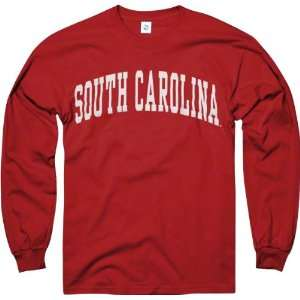 South Carolina Gamecocks Cardinal Arch Long Sleeve T Shirt
