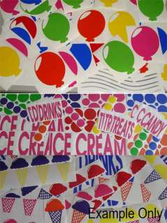 ICE CREAM TRUCK VINYL DECALS STICKERS LETTERING GRAPHIC