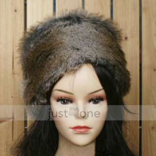 Fashion Faux Fur Women Lady Girls Winter Ski Head Warmer Warm Cap Hat