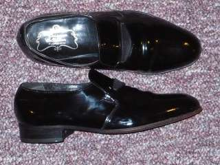 Mens Black Patent Leather Loafers FLORSHEIM Designer Collection Sz 8