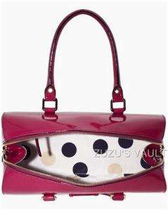 Kate Spade Flicker Melinda Berry Patent Leather Satchel Bag NWT