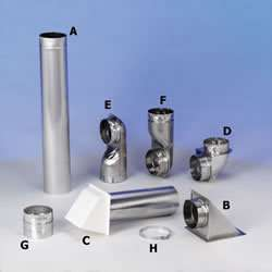 Dryer Vent Pipe System 4 Rigid Aluminum Wall Vent Hood