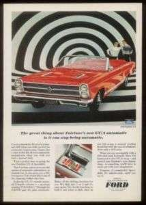 1966 red Ford Fairlane GT convertible car photo ad