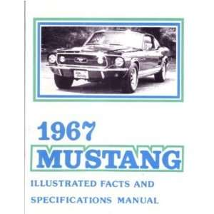 1967 FORD MUSTANG Facts Features Sales Brochure Book