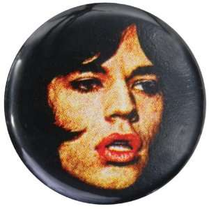 Rolling Stones   Mick Face Button