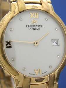 Mans Raymond Weil Geneve Gold GP Watch (54075)