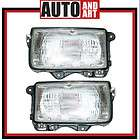 New Pair Set Headlight Headlamp Lens Housing Assembly S (Fits