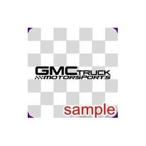 CARS GMC TRUCK MOTORSPORTS 10 WHITE VINYL DECAL STICKER