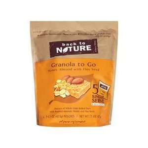 Back To Nature Granola To Go Honey Almond 1.5 oz (Pack Of 6)