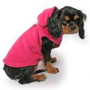 Sleeveless Fleece Dog Hoodie XS BLACK