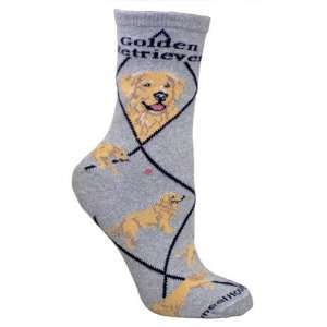 Wheel House Designs Golden Retriever Pet Dog Gray Socks