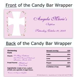 Pink Roses Vine Candy Wrapper