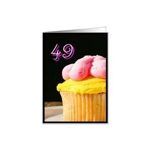Happy 49th Birthday muffin Card Toys & Games