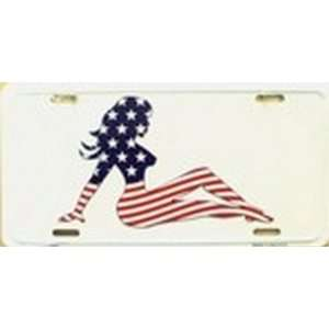 Patriotic Mud Flap Girl License Plate Plates Tag Tags auto vehicle car