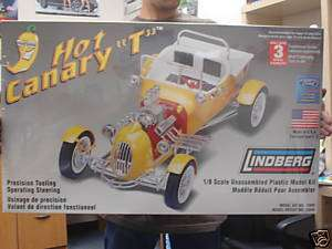 HOT CANARY T LINDBERG HUGE 1/8 SCALE MODEL KIT HOT ROD