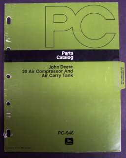 John Deere 20 Air Compressor/Carry Tank Parts Manuals