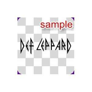 PEOPLE DEF LEPPARD 10 WHITE VINYL DECAL STICKER