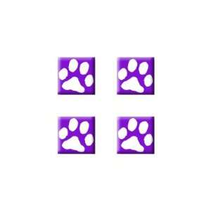 Paw Print Purple   Dog Cat   Set of 4 Badge Stickers Electronics