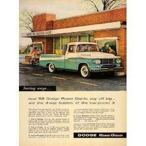 1958 Ad Dodge Power Giants Pickup Trucks Power Dome V8
