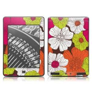 Flowers Design Protective Decal Skin Sticker for  Kindle Touch