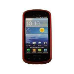Solid Rubberized Plastic Phone Protector Cover Case Red