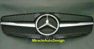 FRONT GRILLE (BLACK) FOR 2007 UP MERCEDES W204 C CLASS