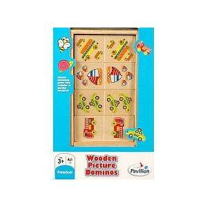 Pavilion Wooden Dominos   Auto Toys & Games