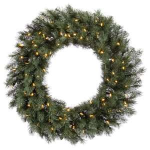 48 Blue Albany Spruce Christmas Wreath w/ 300T 180 Led