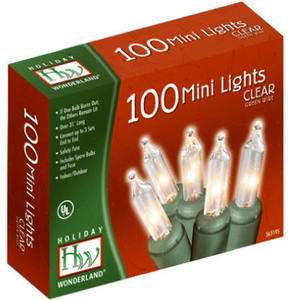 88 HOLIDAY WONDERLAND 100 ct CLEAR MINI CHRISTMAS ENDtoEND LIGHT SET