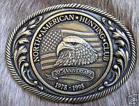 Vintage North American Hunting Club Eagle Belt Buckle