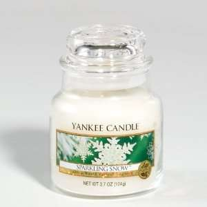 Sparkling Snow   3.7 Oz Small Jar Yankee Candle